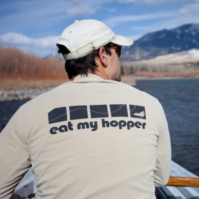 Eat My Hopper Long Sleeve Sandstone T-Shirt