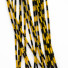 Grizzly Barred Rubber Legs – Black/Yellow